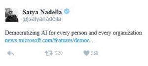 Satya Nadella Microsoft AI artificial intelligence caase.com