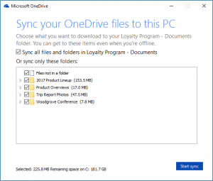 sync client onedrive for business sharepoint online
